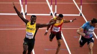 麦克劳德110米栏夺冠军 舒本科夫摘银无缘卫冕