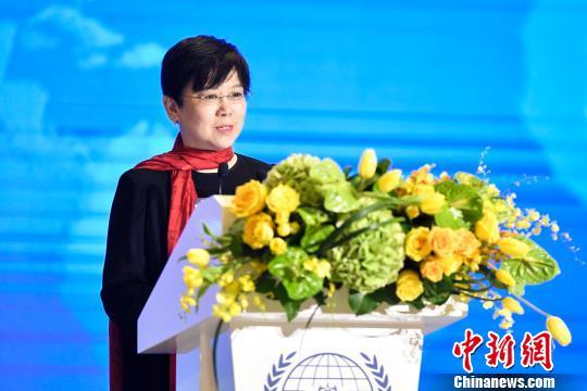 中国人民对外友好协会会长李小林致辞 陈骥旻 摄